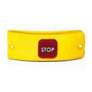 """Bouton """"arrêt demandé"""" Sesaly BM420 (corps jaune / bouton rouge)"""
