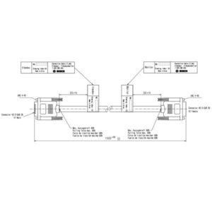 Câble de connexion Videobox-Moniteur 1.5m