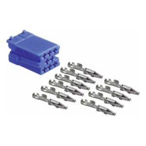 Connecteur mâle mini ISO bleu 8 pôles + 10 contacts femelles